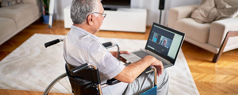 Online chat wheelchair user