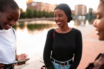Black Female Teenagers Group
