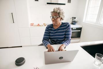Older Black Woman Laptop