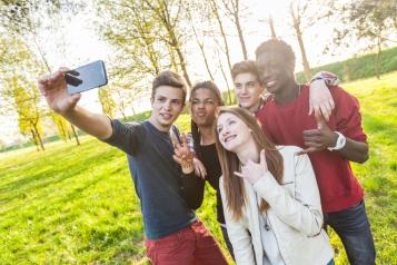 Teen Group Selfie