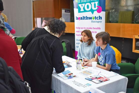 Healthwatch Haringey staff on stall