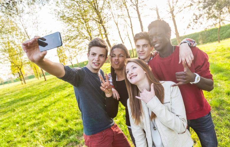 Teen Group Selfie